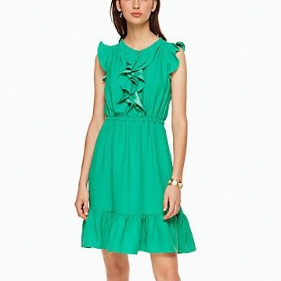 kate spade Dresses & Skirts - kate spade ✨ sleeveless crepe ruffle dress